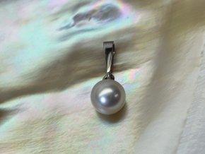 zlatý přívěsek s mořskou perlou 7-7,5 mm