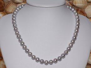 náhrdelník ze sladkovodních perel 7,5-8,5 se stříbrným uzávěrem