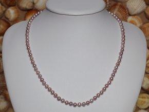 náhrdelník ze sladkovodních perel 4,5-5 mm se stříbrným uzávěrem