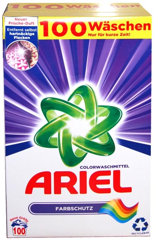 Prací prášek na barevné Ariel Color 100 dávek
