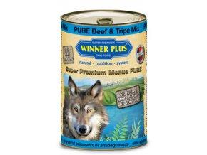 Winner Plus konzerva Super Premium Menue pes Hovězí+dršťky 800g
