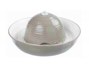 Pítko fontána VITAL FLOW, keramická 1,5 l šedo/bílá