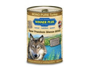 Winner Plus konzerva Super Premium Menue pes MONO PURE krocan 400g