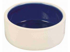 Keramická miska malá bílo/modrá