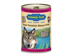 Winner Plus konzerva Super Premium Menue pes Dušené hovězí+jehněčí+krůtí 400g