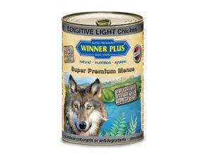 Winner Plus konzerva Super Premium Menue pes Sensitive light kuřecí maso+brambory 800g