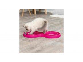 Hračka pro kočky, skládací dráha pro závod míčků 65x31 cm