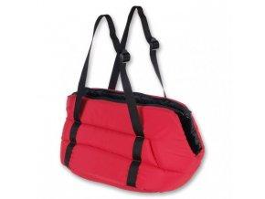 Přepravní taška Migra pro psy z polyesteru I, červená