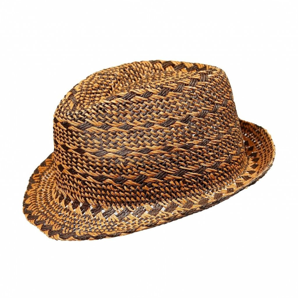 Pánský letní hnědý klobouk