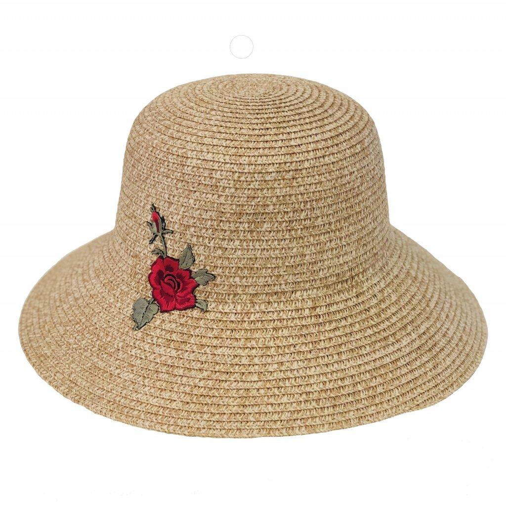 Dámský letní klobouk s květinou