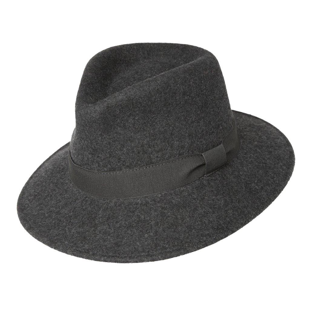 Pánský plstěný šedý klobouk