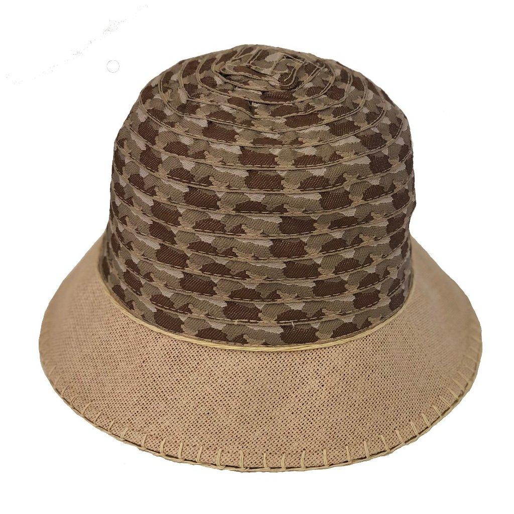 Dámský letní béžový klobouk