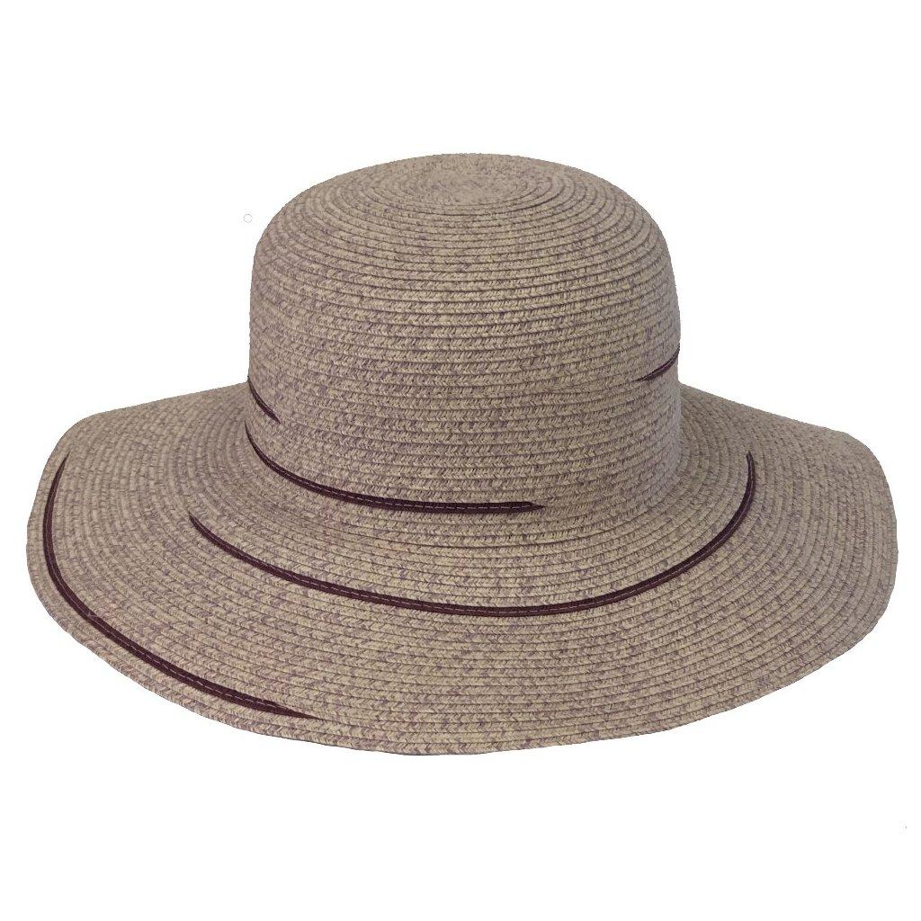"""Dámský letní fialový klobouk """"Brim hat"""""""