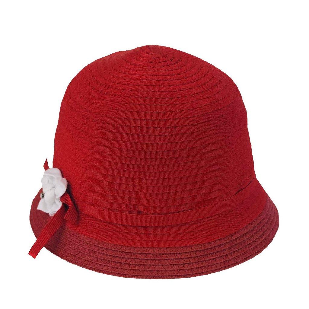 Dámský letní červený klobouk