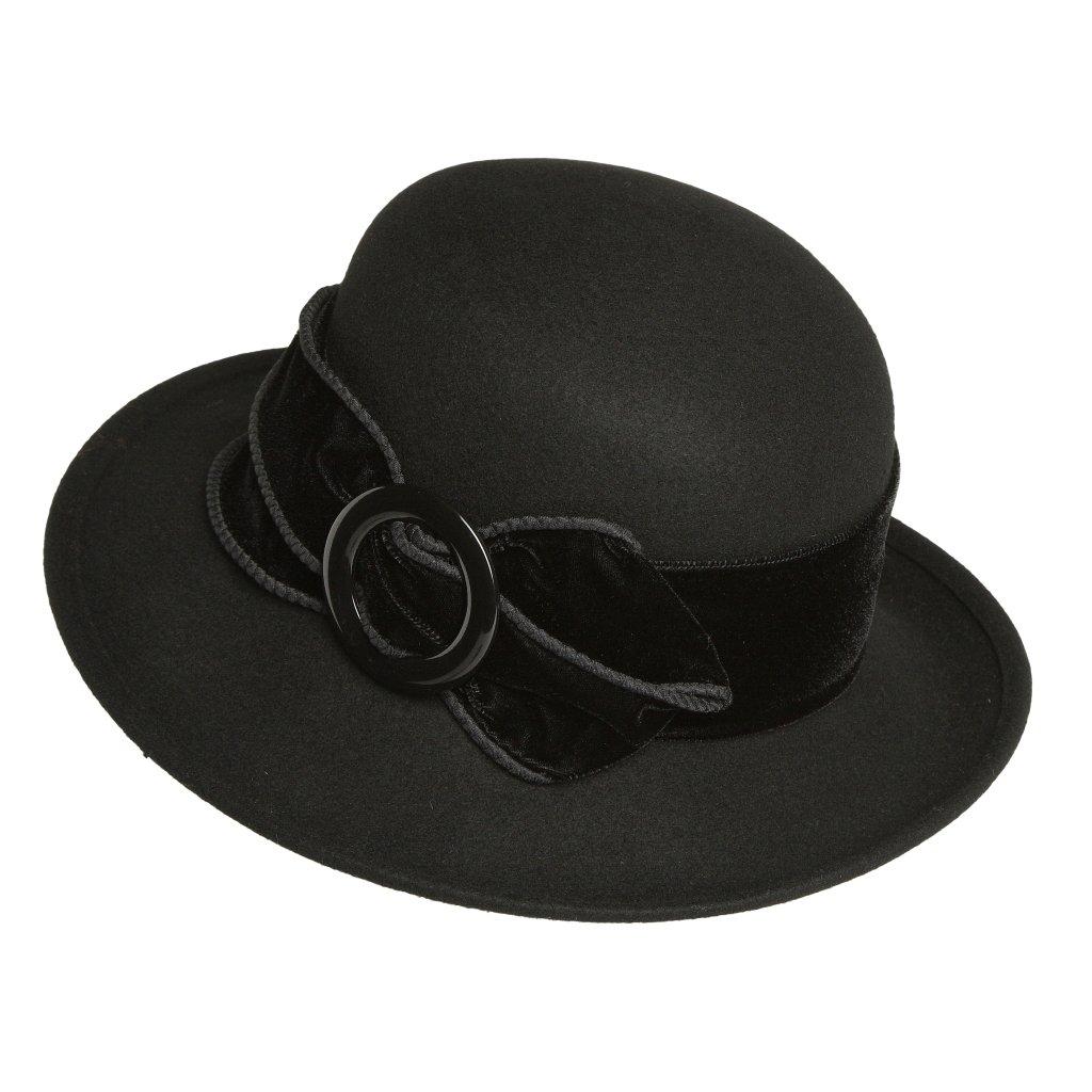 Dámský černý klobouk