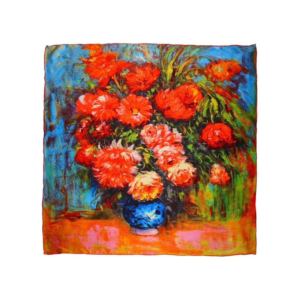 HEDVÁBNÝ ŠÁTEK Van Gogh