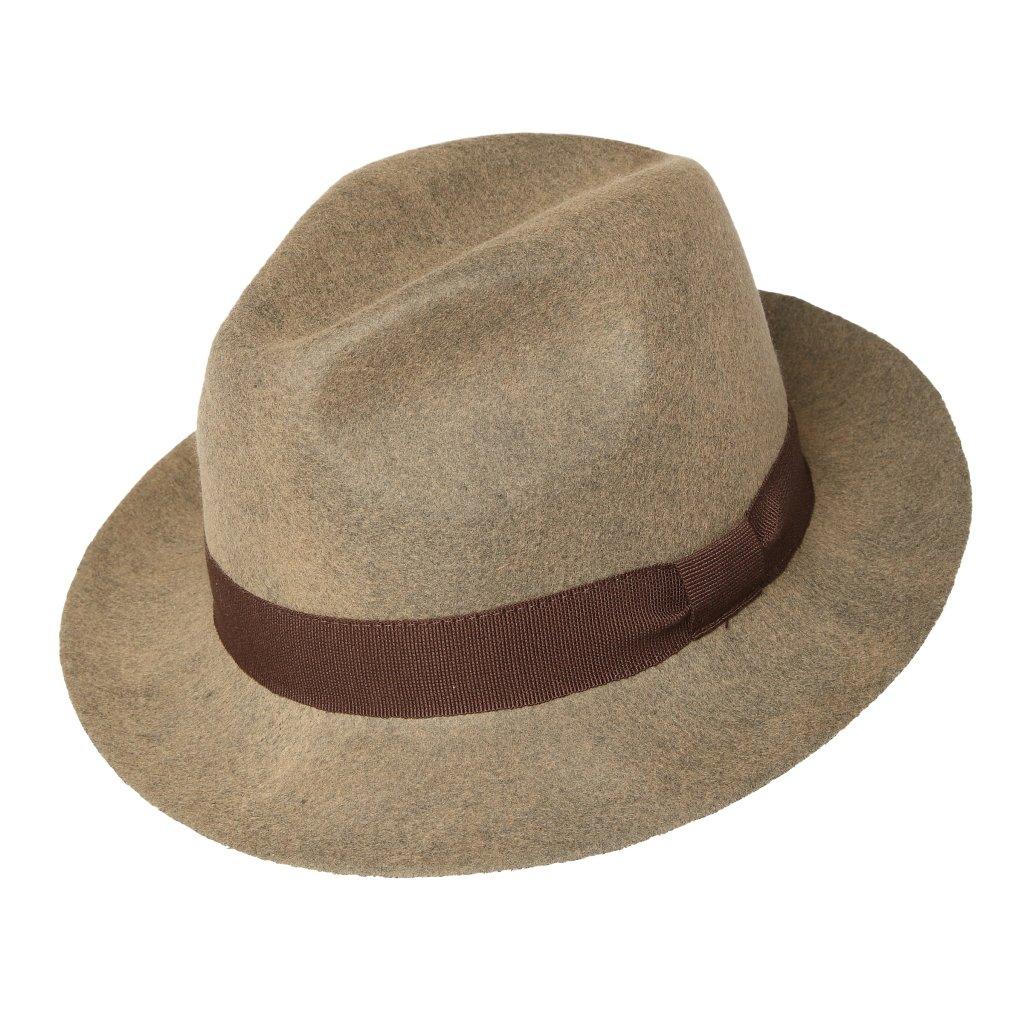 Hnědý unisexový klobouk