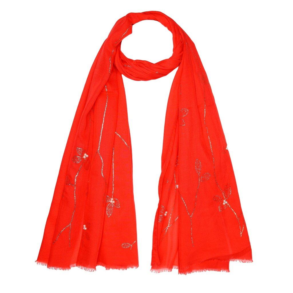 Dámská letní červená šála