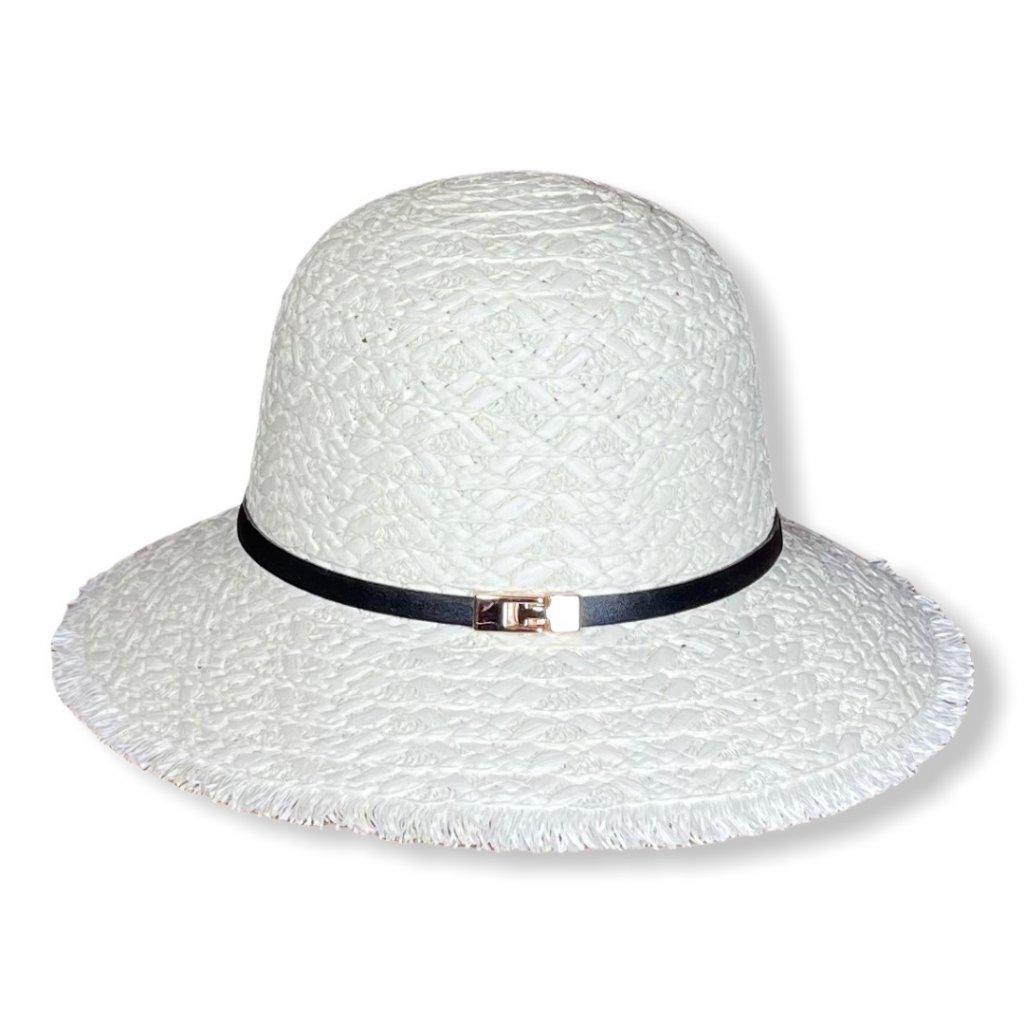 Dámský letní krémový klobouk
