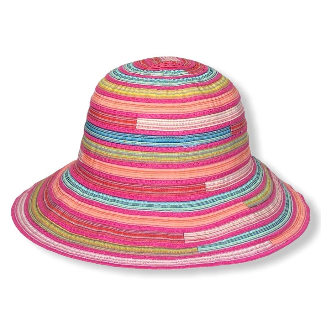 Dámský letní barevný klobouk