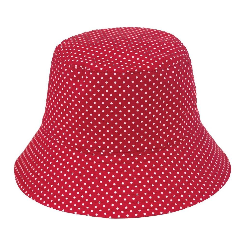 Dámský puntíkovaný klobouk