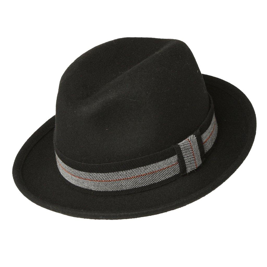 Pánský klobouk s pruhovanou stuhou