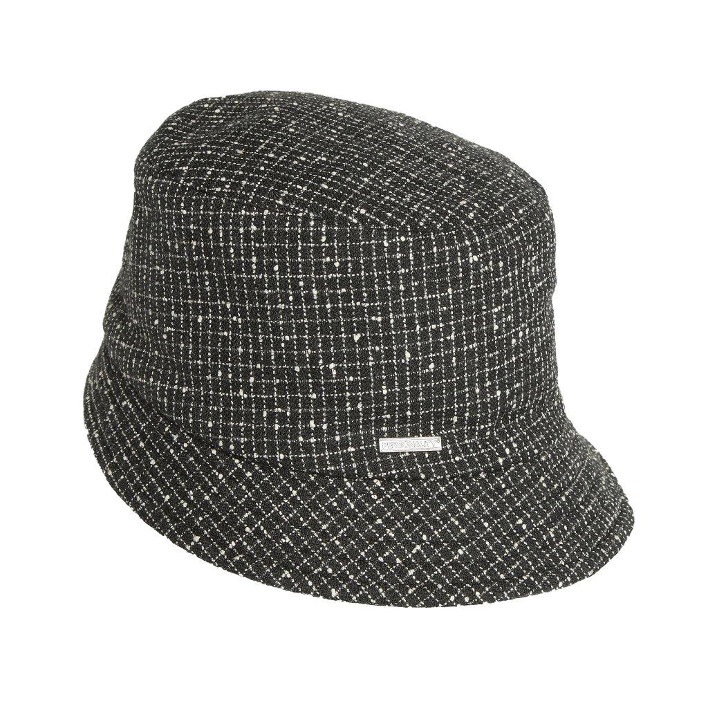 Dámský černobílý klobouk