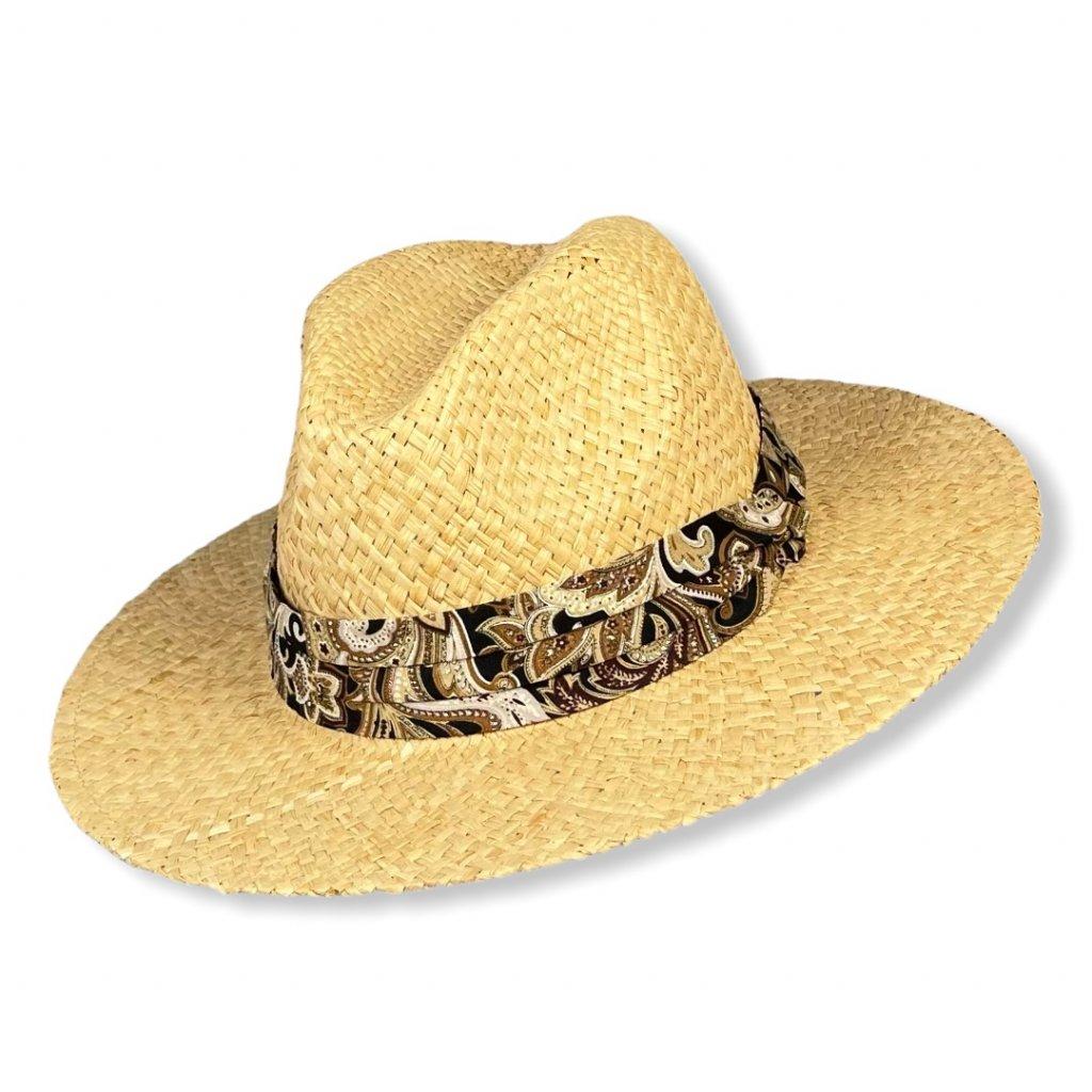Pánský letní slaměný klobouk Fedora