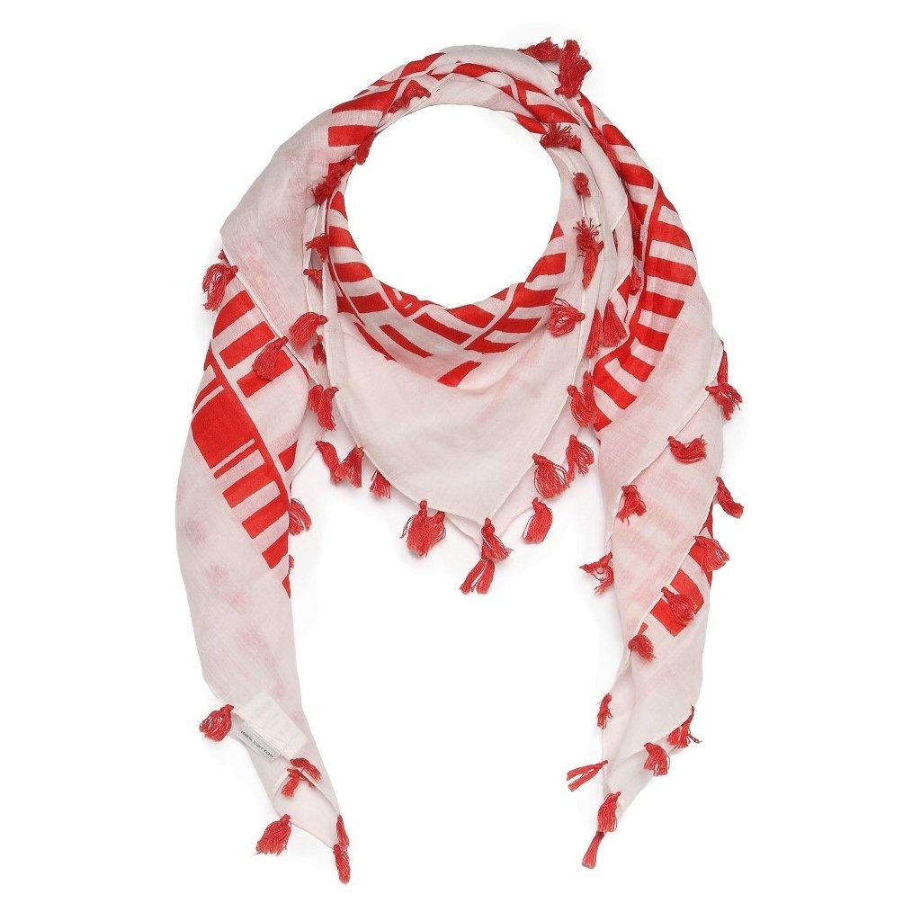 Dámský šátek s třásněmi