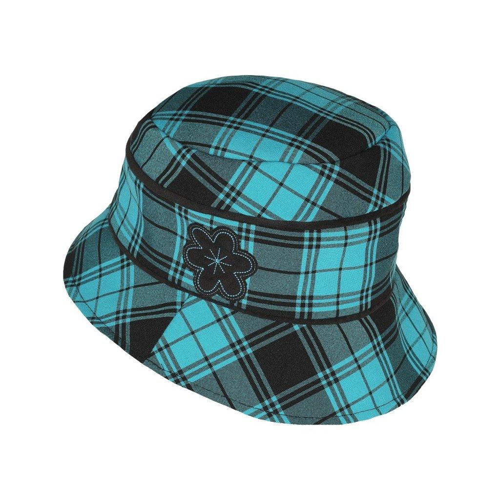 Dámský kostkovaný klobouk