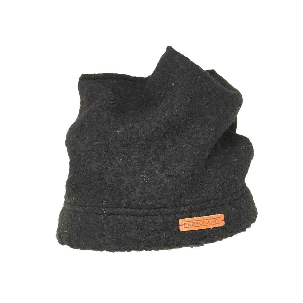 Černá unisexová čepice