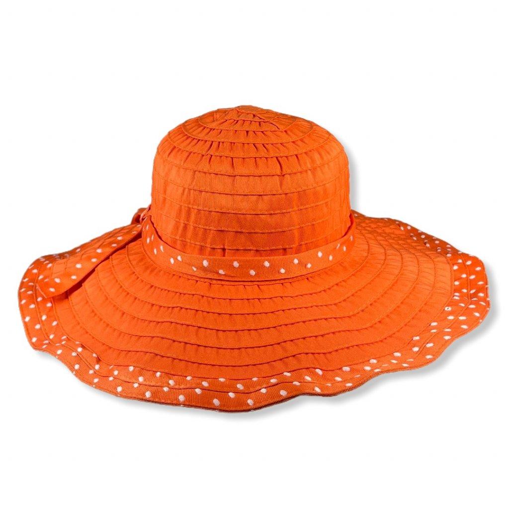 Dámský letní oranžový klobouk