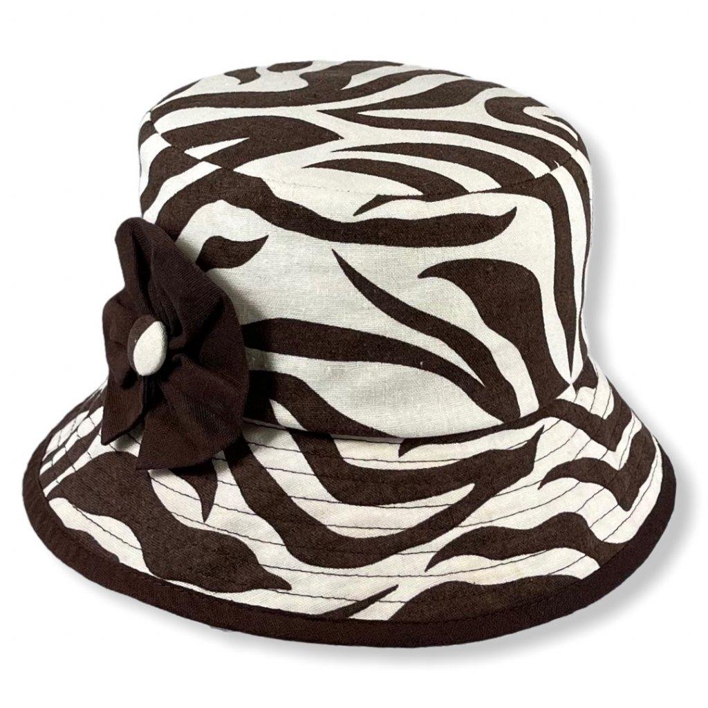 Dámský letní lněný klobouk