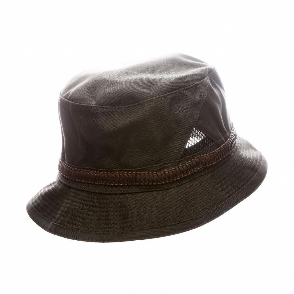 """Pánský letní zelený""""Bucket hat""""s koženkovým páskem"""