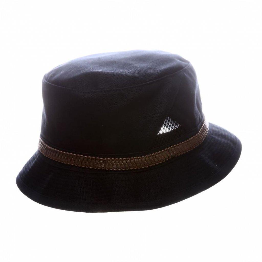 """Pánský letní modrý """"Bucket hat""""s koženkovým páskem"""