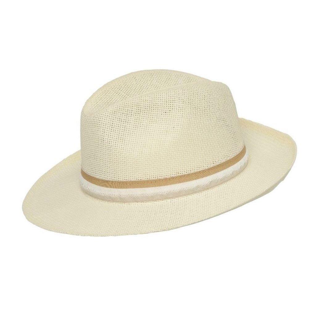 Pánský letní krémový klobouk Trilby