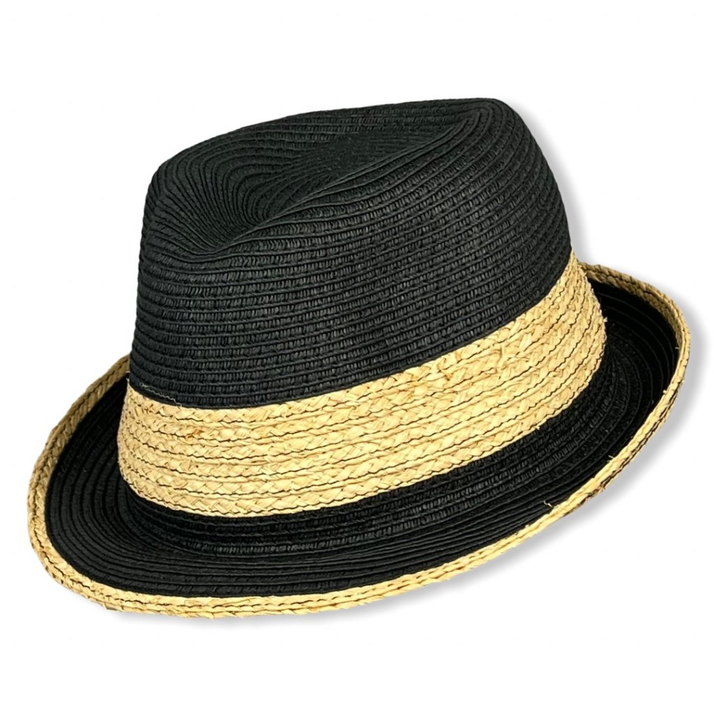 """Pánský letní černý klobouk """"Trilby"""""""