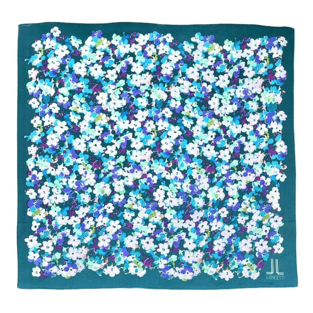 HEDVÁBNÝ ŠÁTEK LANCETTI - Květy