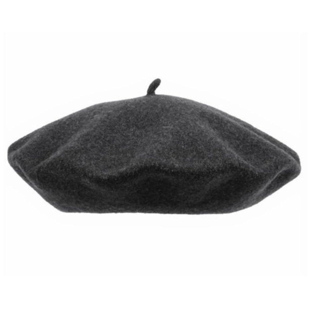 Dámský tmavě šedý baret