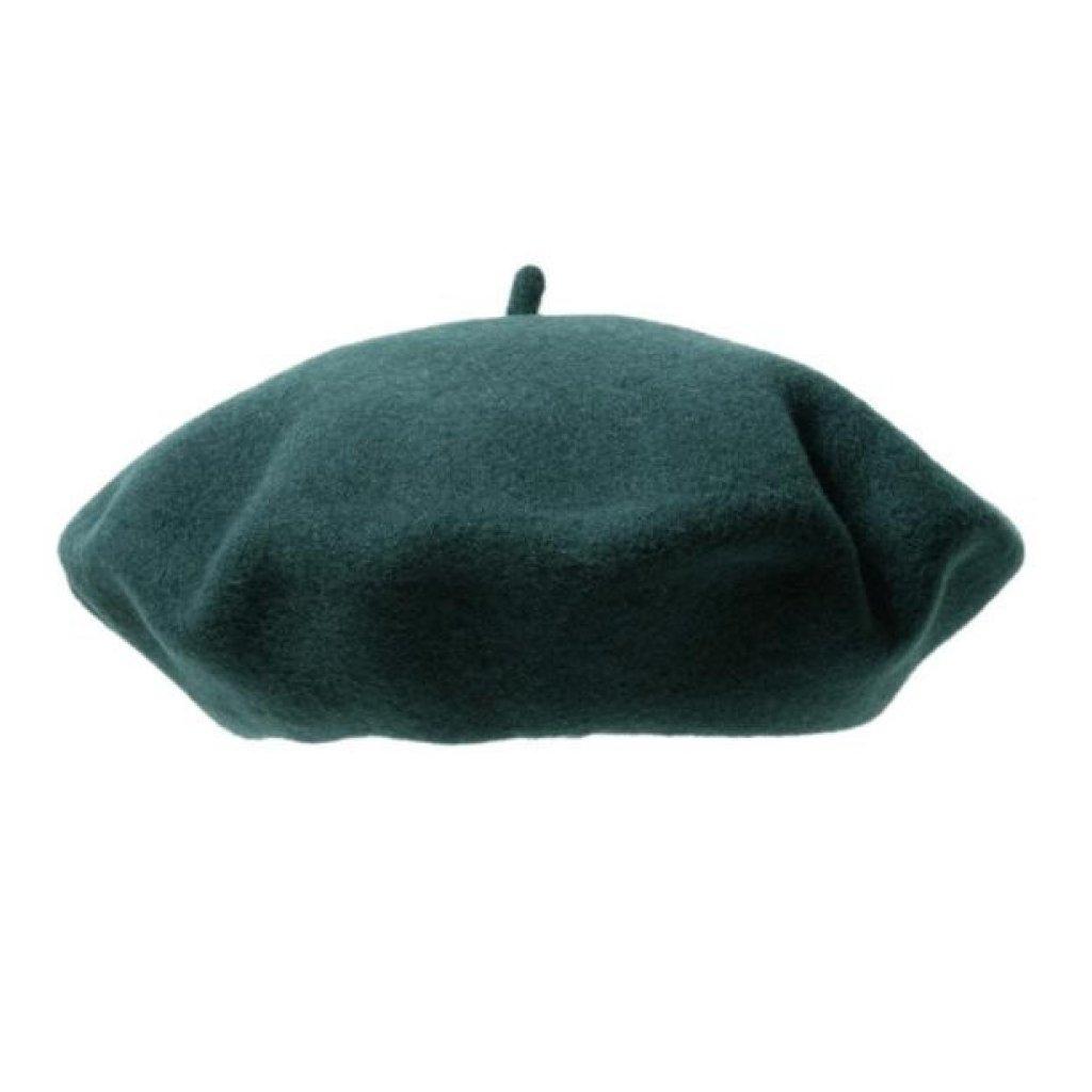Dámský tmavě zelený baret