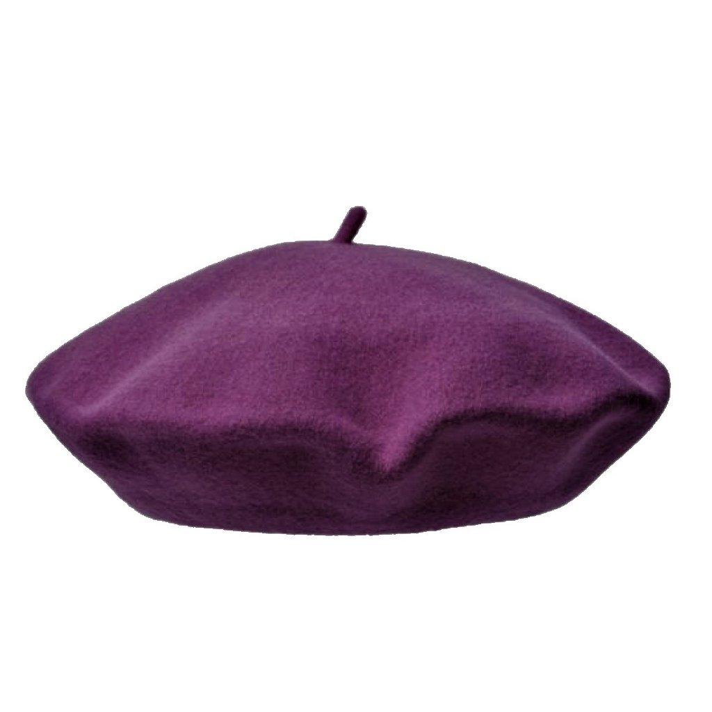 Dámský tmavě fialový baret
