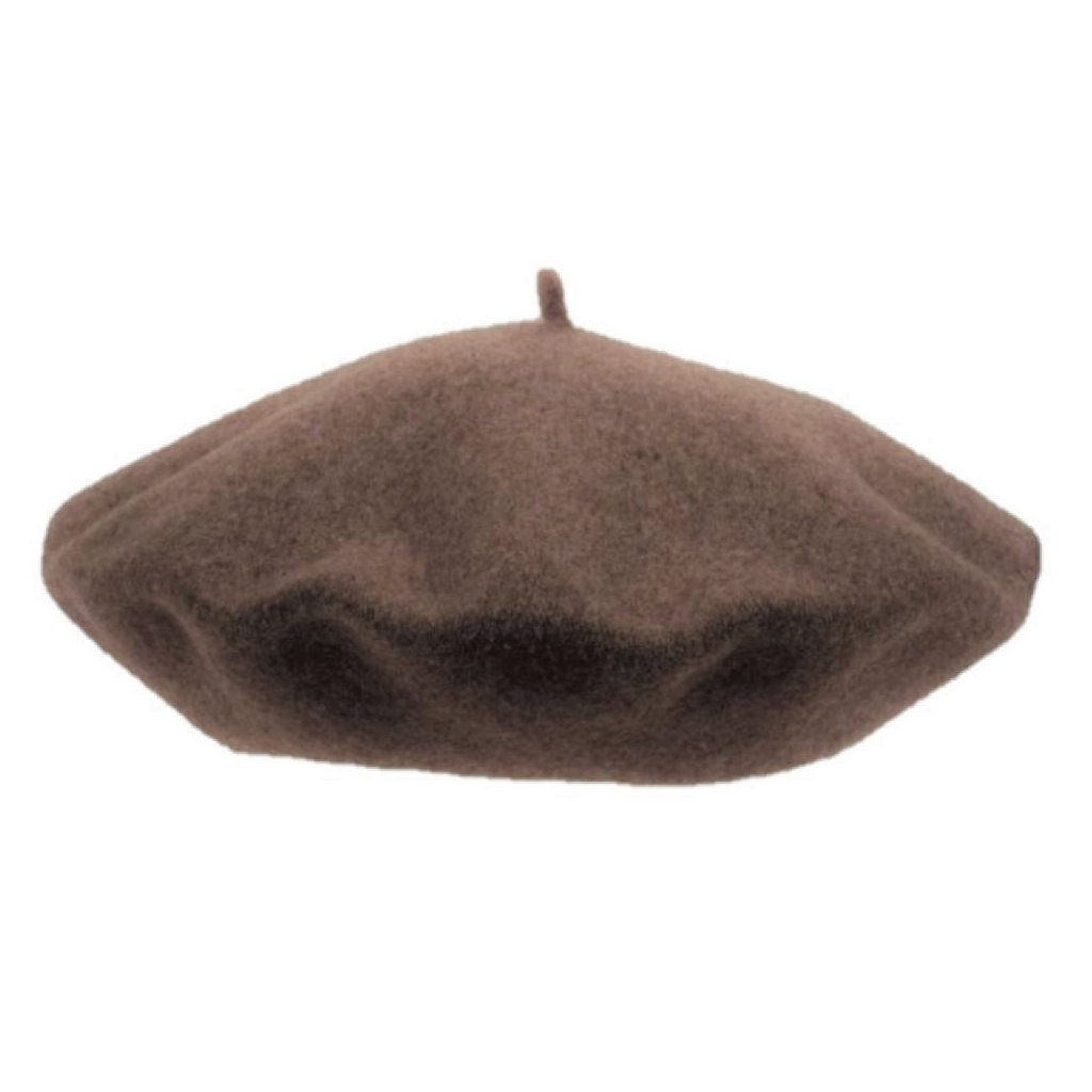 Dámský hnědý melírovaný baret