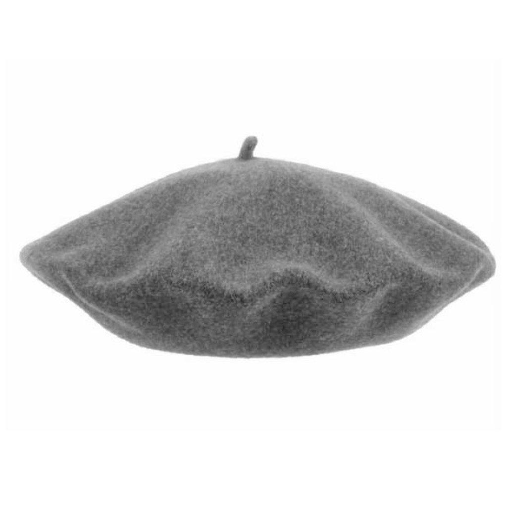 Dámský šedý melírovaný baret