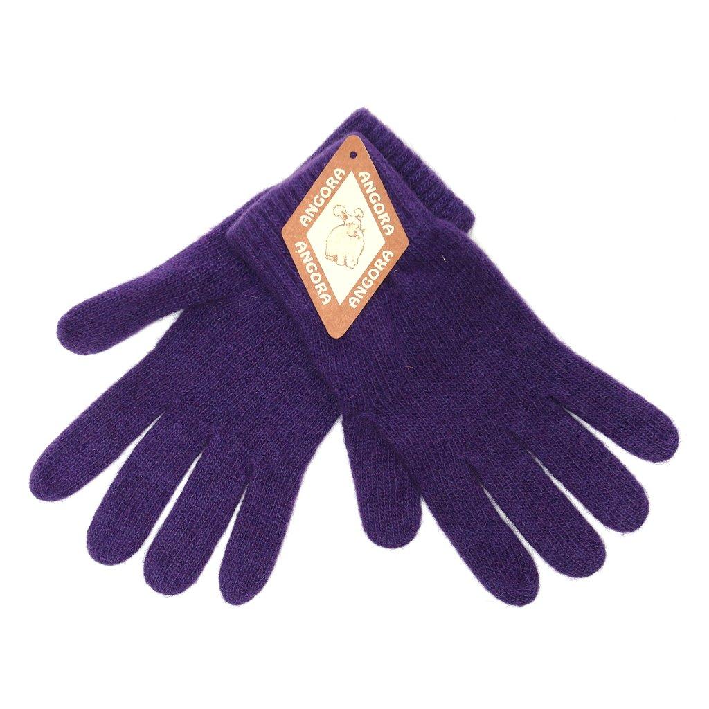 Dámské fialové rukavice
