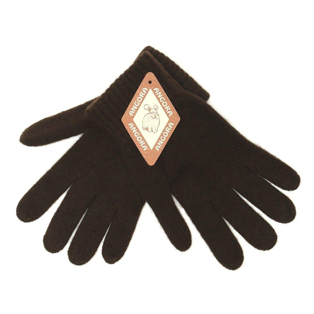 Dámské hnědé rukavice