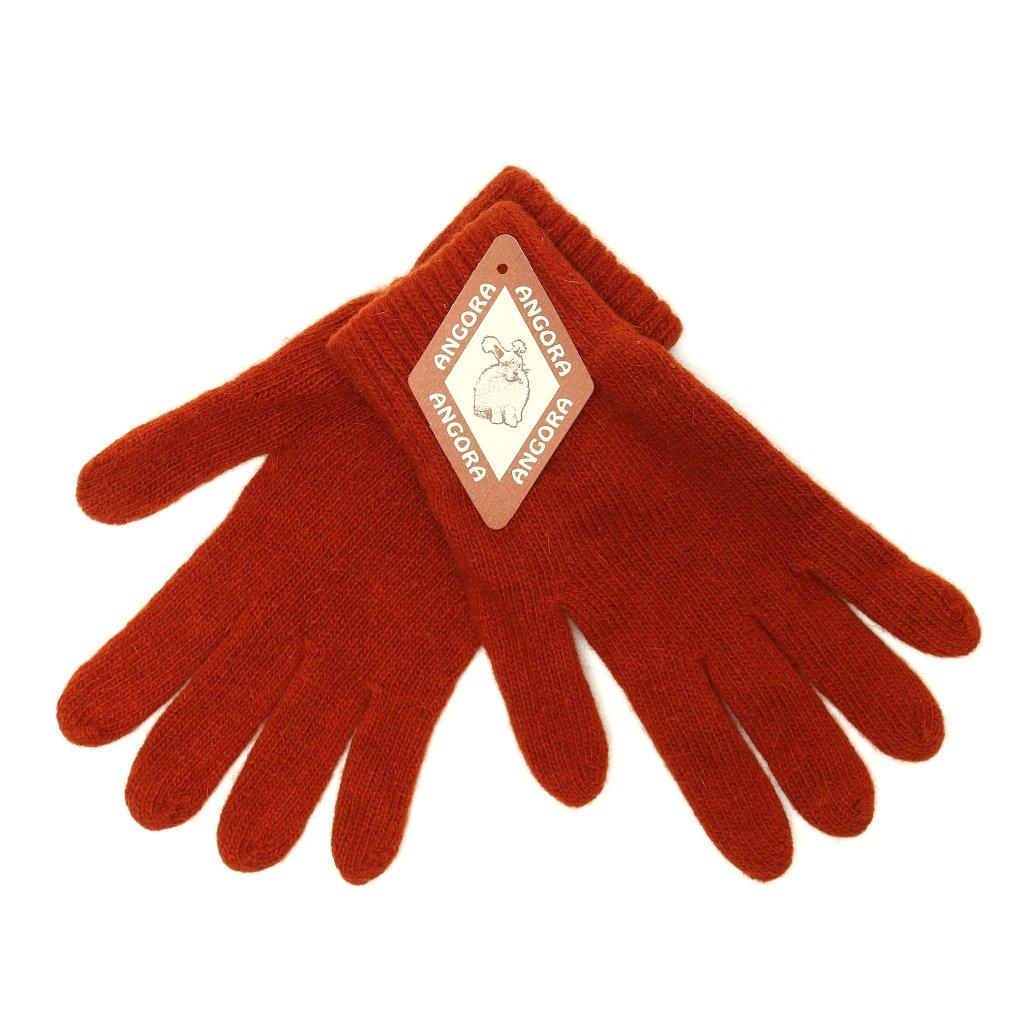 Dámské oranžové rukavice