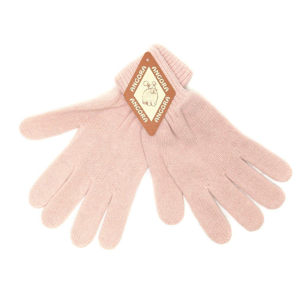 Dámské růžové rukavice