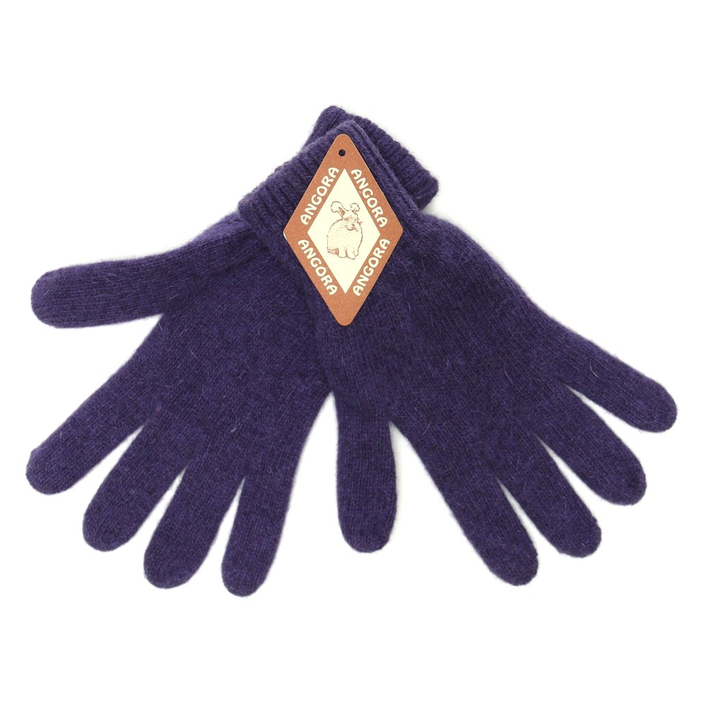 Dámské tmavě fialové rukavice