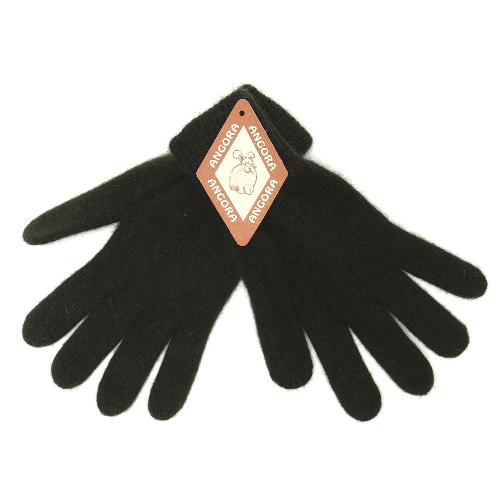 Dámské tmavé zelené rukavice