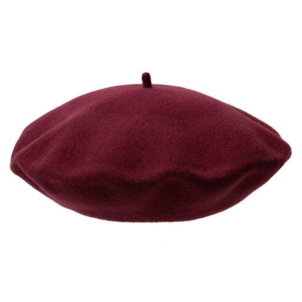 Dámský bordový baret